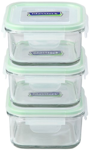 Kinetic Go Green GlassLock 1332 17-Ounce Square