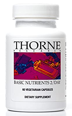 Thorne Research - Basic Nutrients 2 / Day - Complete Multivitamin / Mineral Formula - 60 Capsules