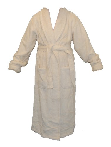 Slenderella Dressing Gown White and Sand Large Stripe Reduced !!!!