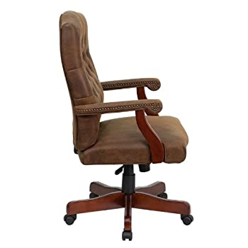 Flash Furniture 802-BRN-GG Bomber Brown Classic Executive Office Chair