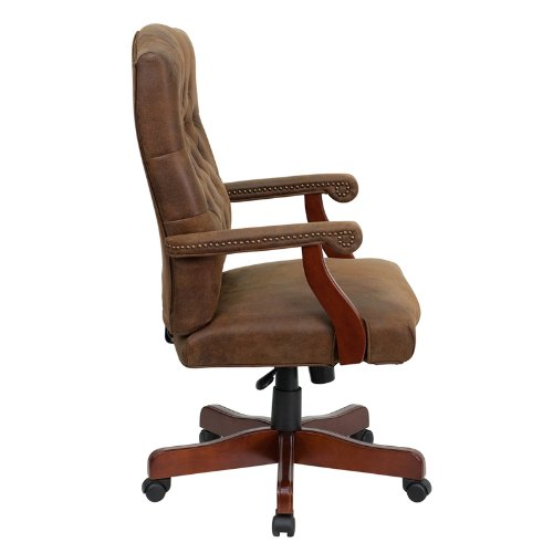 Flash Furniture 802-BRN-GG Bomber Brown Classic Executive Office Chair 1