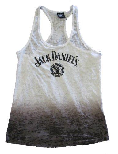 Jack Daniels-Tintura Burnouot-Canottiera da donna, motivo n. 7
