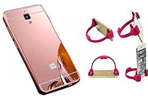 Novo Style Back Cover Case with Bumper Frame Case for Xiaomi Redmi Mi4 Rose Gold + Ok Stand For Smartphones And Tablets