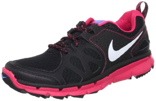 Nike Women's NIKE FLEX TRAIL WMNS RUNNING SHOES 8 (BLK/MTLC PLTNM/BRRY/UNVRSTY BL)