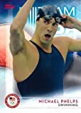 2016 Topps Olympics #1 Michael Phelps Team USA Swimming Card