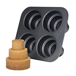 Chicago Metallic 4-cup Nonstick Multi-Tier Cake Pan