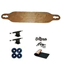 Carve-one Blank Natural Drop-thru Freeride Longboard Complete