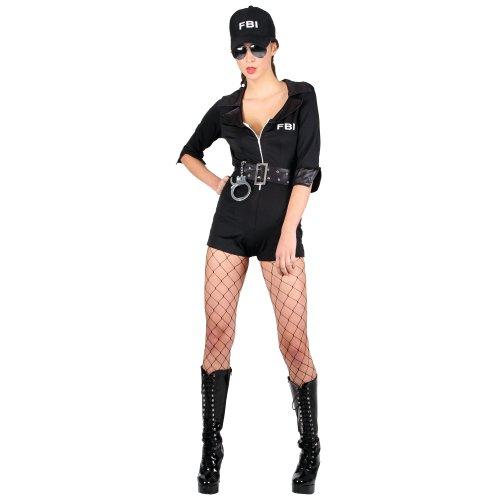 FBI Kripo Inspektor Sexy Verkleidung für Frauen Karneval Halloween Kostüm S