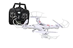 ZuZo 2.4GHz 4 CH 6 Axis Gyro RC Quadcopter Drone with Camera & LED Lights, 38 x 38 x 7cm by ZuZo