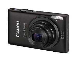 Canon IXUS 220 HS - Cámara Digital Compacta 12.1 MP (2.7 pulgadas LCD, 5x Zoom Óptico) - Negro (importado)