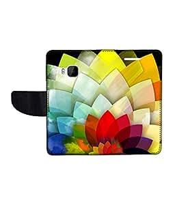 KolorEdge Printed Flip Cover For HTC One M9 Multicolor - (1478-50KeMLogo11271HTCM9)