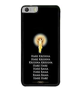 Hare Krishna 2D Hard Polycarbonate Designer Back Case Cover for Micromax Canvas Knight 2 E471