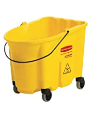 Rubbermaid FG757088YEL WaveBrake Yellow 35 Qt Mop Bucket with Casters by WaveBrake
