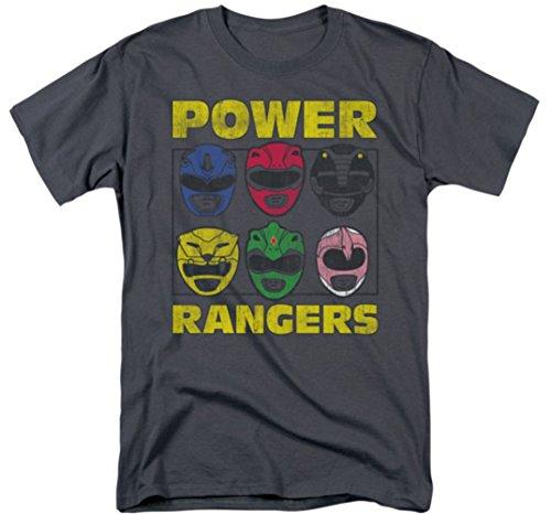 Mighty Morphin: Power Rangers - Ranger Heads T-Shirt