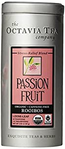 Octavia Tea Passion Fruit (Organic, Fair Trade Certified, Caffeine-Free Red Tea/Rooibos) Loose Tea, 2.82 Ounce Tin from Octavia Tea