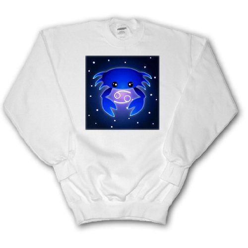 Cute Astrology Cancer Zodiac Sign Blue Crab - Adult SweatShirt Small