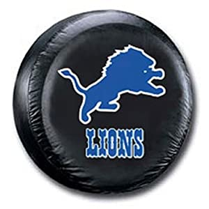 Detroit Lions Black Spare Tire Cover by Fremont Die