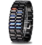 Better Dealz 2014 LAVA Bunt LED Herren Armbanduhr Dualsystem Binär Digital IRON Uhr
