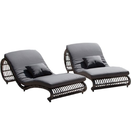 Mulholland Grey Wicker Lounge Chair (Set of 2) image