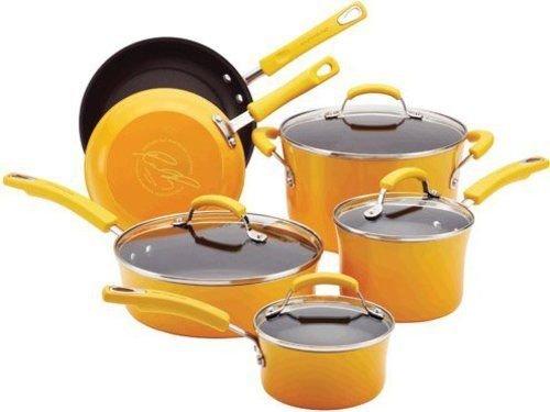 Nonstick Porcelain Enamel Ii Cookware Set Yellow Gradient