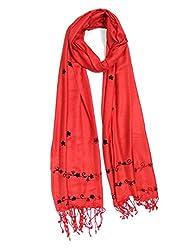 Anuze Fashions Embroidery Plain Viscose Super Soft Shawl