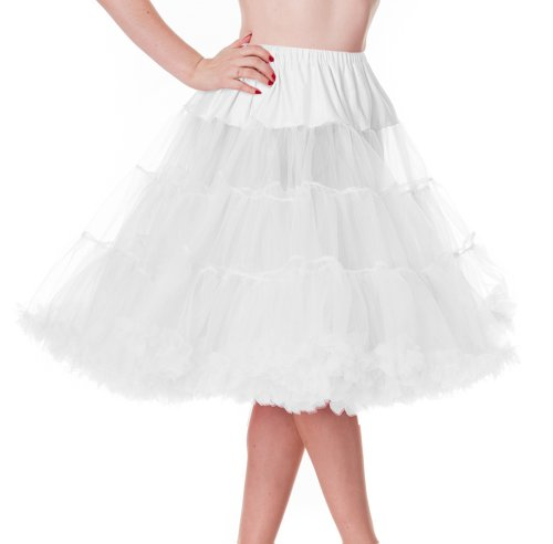 Hell Bunny 25' Petticoat (Xs-M, White)