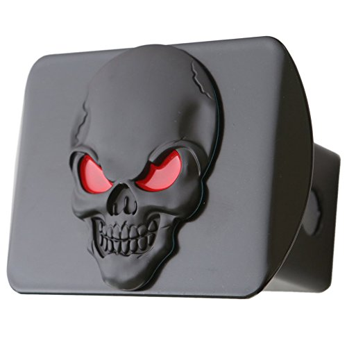 100% Metal Skull 3D Emblem Trailer Hitch Cover Fits 2