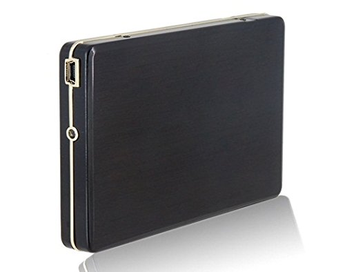 "2.5"" Usb2.0 Portable Hard Disk Enclosure Case For Laptop, Desktop And Mac (Black)"