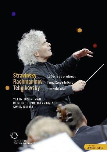 Tchaikovsky the Nutcracker; Stravinsky Rite of Spring; Rachmaninov Piano Concerto no 3; Sir Simon Rattle; Berlin Philharmonic [DVD] [2009] [NTSC]