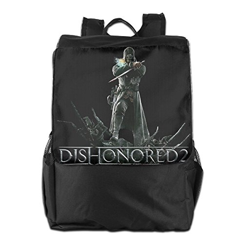 [Action Adventure Game Dishonored 2 Logo Retro Rucksack For Men And Women Outdoor Sports] (Dishonored Assassin Costume)