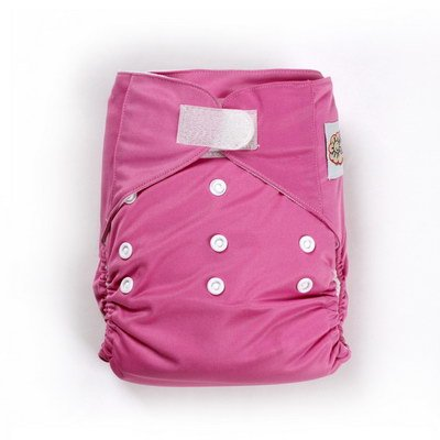 SUNNY BABY テープ式 薄型ワンサイズ布おむつカバー ダックピンク