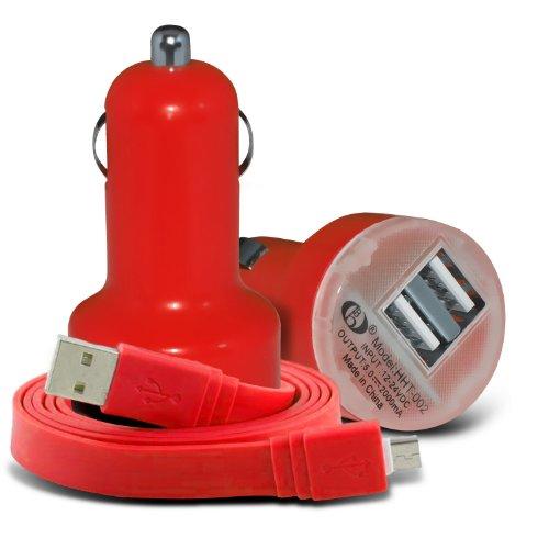 (Red) Acer Röntgengenerator Iconia Tab 7A1-713, A1-713HD, B1-730, B1-721, B1-720, A1-830, A3, A1-811, A1-810, B1-710, B1-A71, A110, A210, A210, A701, A511, A510, A501 Universal 12v Schnelle Mini Bullet USB Dual Port In Car Charger & Micro-USB-Flat 1 Meter Daten sajv - Schweizerische Arbeitsgemeinschaft der Jugendverbände PC Laptop Ladekabel exklusiv für Spyrox