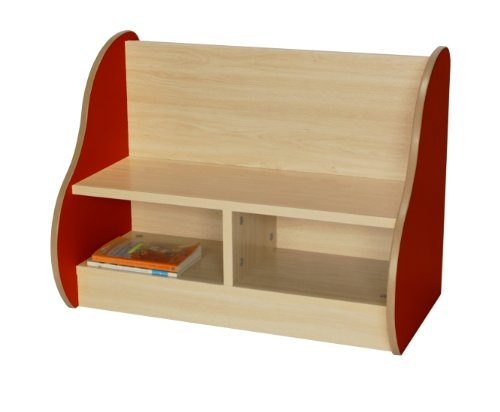 Bücherbank Kidz Pro einseitig, klein, verschiedene Farben rot