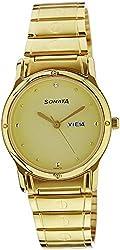 Sonata Classic Analog Gold Dial Mens Watch - NC7023YM09