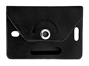 Fastway Rotating 360 Deg Leather Flip Stand Cover For Alcatel Pixi 3 (7) LTE-Black