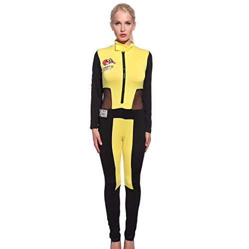 Sexy Ladies Super Car Racer Racing Girl Costume Fancy Dress Bodysuit