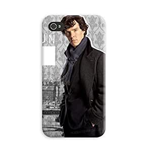 Aurmen High Quality Printed Designer Back Case Cover for Apple Iphone 4s (HOLMES23)