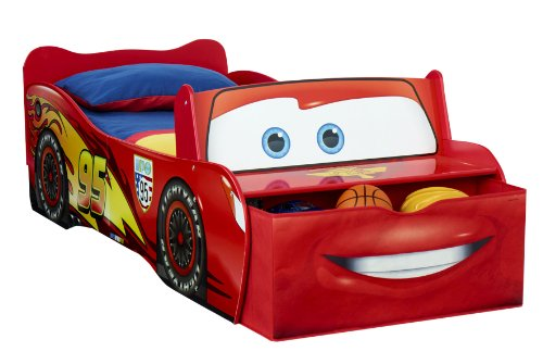 Worlds Apart 865189 Moderne Lit Enfant Disney Cars Flash Mc Queen Bois/MDF Rouge 170 x 77 x 54 cm