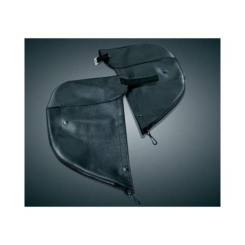 Kuryakyn Plain Engine Guard Chaps for Harley Davidson 1986 2012 Touring models with Standard Engine Guard
