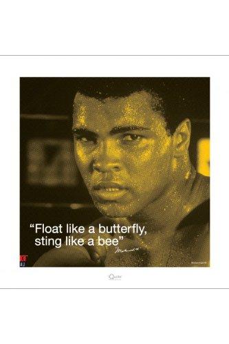 Ali, Muhammad stampata - Sting Like a Bee citazione + accessori ohne rahmen