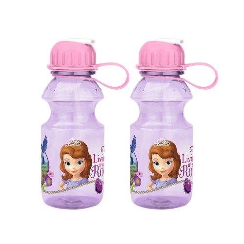 Zak Designs Sophia The First Tritan Bottle, 14-Ounce, 2-Pack