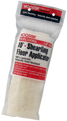 Wooster Brush RR412-10 Shearling Floor Applicator 1/2-Inch Nap, 10-Inch