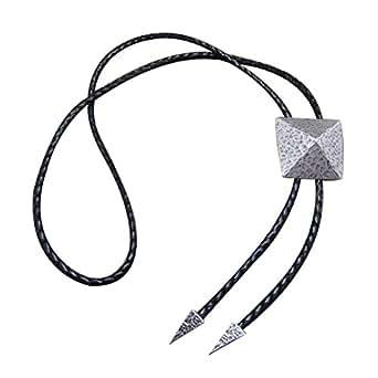 -Retro Men Metal Bolo Tie Antique Necktie Silver Plate Bow Ties