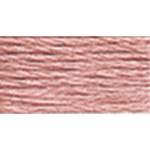 DMC 117-152 Mouline Stranded Cotton Six Strand Embroidery Floss Thread, Medium Light Shell Pink, 8.7-Yard