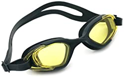 Viva Sports Viva-130 Swimming Goggles (Black, Yellow)