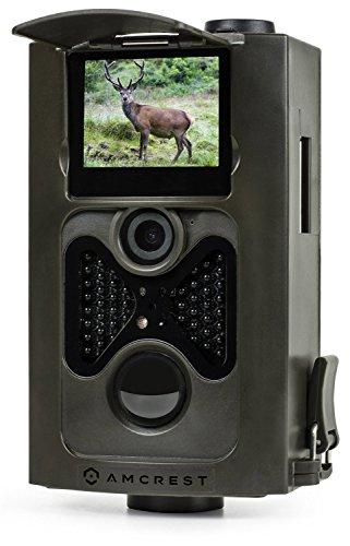 """Amcrest ATC-801 720P HD del gioco e traccia Caccia Camera - 8MP dinamico di acquisizione, integrata da 2 """"LCD Screen, alta sensibilità di rilevamento del movimento con lunga autonomia di LED a infrarossi di visione notturna fino a 65ft"""