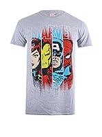 ZZ-Marvel Camiseta Manga Corta Assemble (Gris)