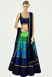 Sargam Fashion Embroidered With Embellished Multicolor Net Traditional Wedding Wear Lehenga Choli Set. - Rainbowlehengha