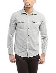 Bandit Lt Grey Casual slim Fit Shirt