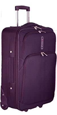 """5 Cities Cabin Approved Super Lightweight Suitcase (plum 21"""")"""